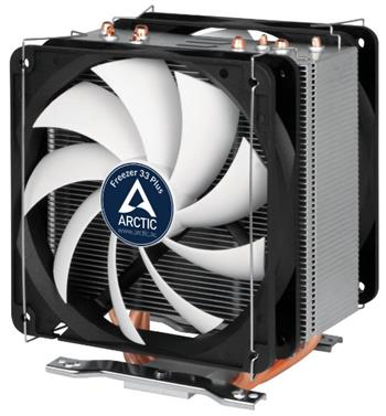 ARCTIC Freezer 33 PLUS, CPU Cooler for Intel Socket 2011(-v3) / 1150 / 1151 / 1155 / 1156 & AMD socket AM4, direct touch