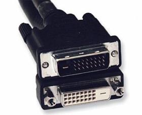 DVI kabel, DVI-D dual link, M-F, 10m, prodlužovací