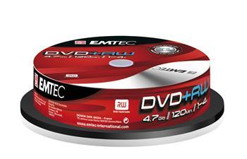 EMTEC DVD+RW 4,7GB 4x spindl 10pck/BAL