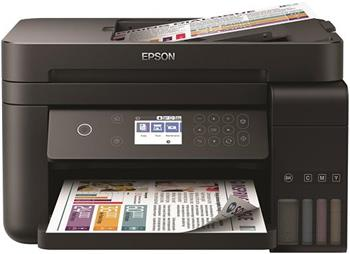 EPSON tiskárna ink L6170, 3in1, CIS, A4, 33ppm, 4ink, USB, Wi-Fi, Ethernet, Auto sheet feeder,LCD, 3 roky záruka po reg.