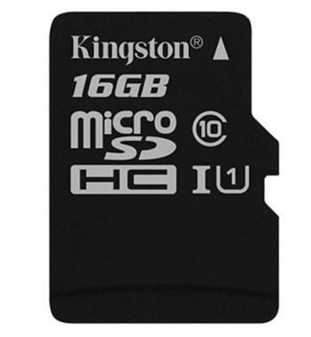 Kingston micro SDHC karta 16GB Canvas Select UHS-I U1