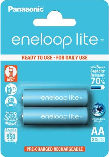 Panasonic Eneloop Lite AA, akumulátory blistr 2 ks, 3000 cyklů