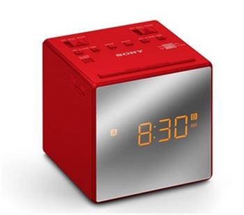 Sony ICF-C1T radiobudík, red