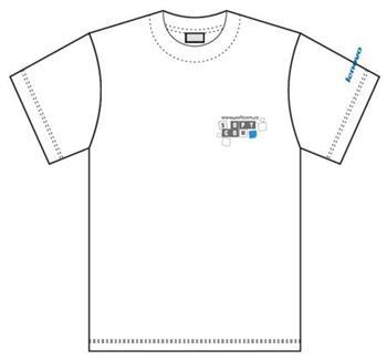 Tričko reklamní Lenovo krátký rukáv bílé