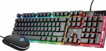 TRUST GXT 838 Azor Gaming Combo, set klávesnice s myší