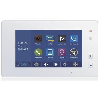 """XtendLan Bytový monitor D2, barevné TFT 7"""", dotyk. obrazovka+tlačítka, paměť, 2-drát, tenký, bílý , CZ"""